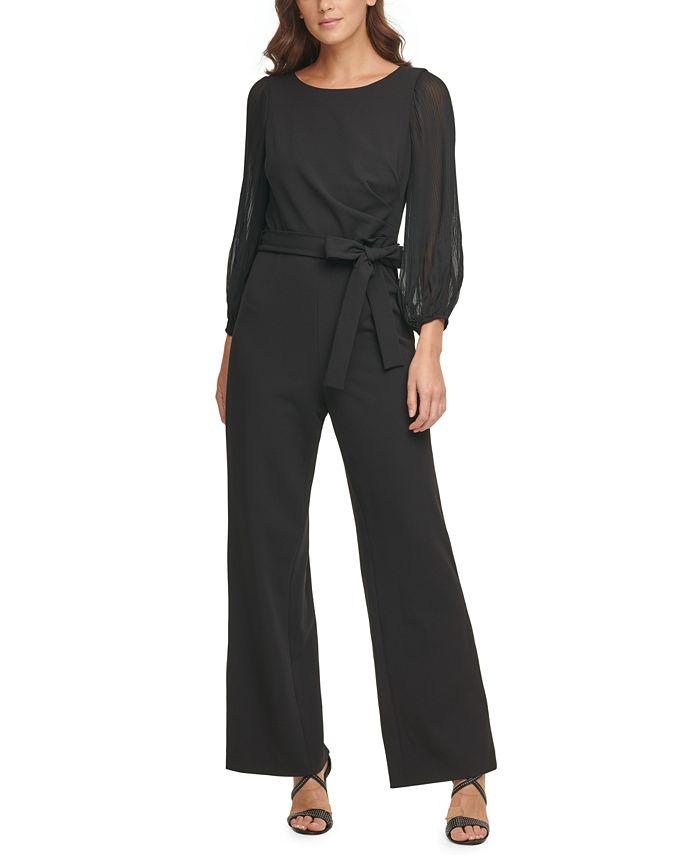 DKNY - Pleated-Sleeve Jumpsuit