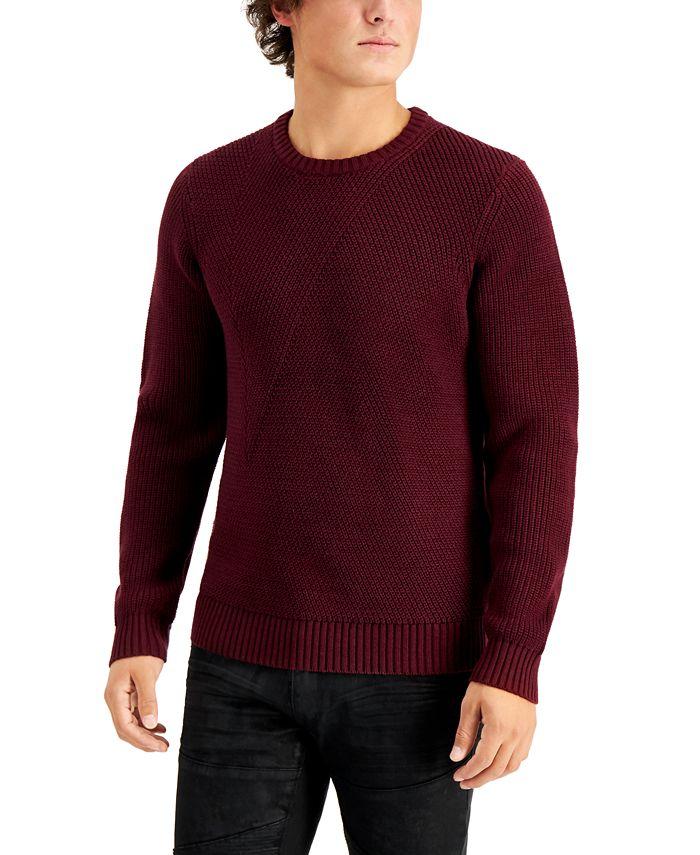INC International Concepts - Men's Crewneck Sweater,