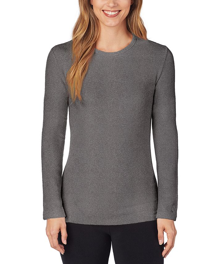 Cuddl Duds - Fleece Long-Sleeve Crewneck Top