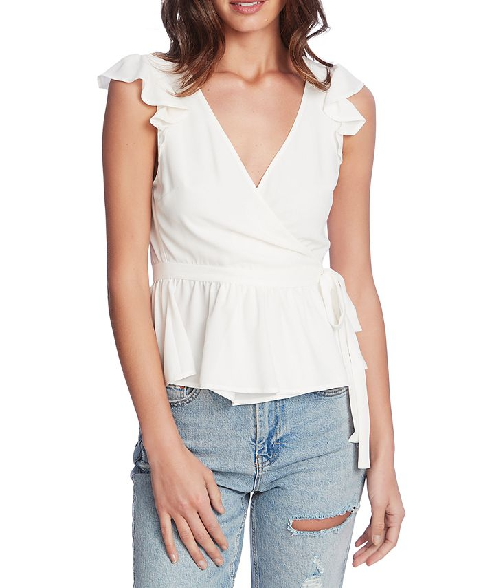 1.STATE - Flutter-Sleeve Wrap Top