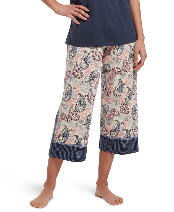 Hue - Printed Knit Capri Sleep Pants