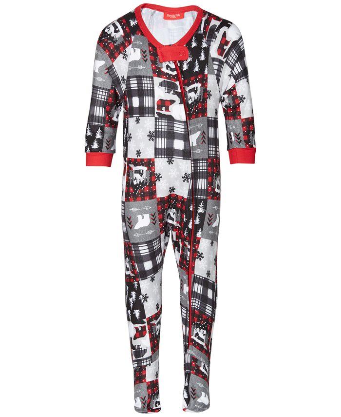 Family Pajamas - Baby Holiday Patchwork Footed 1-Pc. Pajama