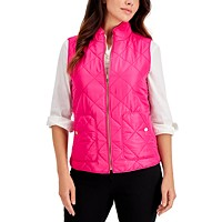 Deals on Charter Club Womens Petite Quilted Vest
