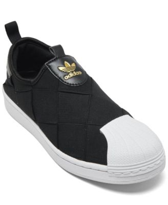 super star slip on adidas
