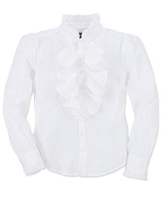White Ruffle Blouse Macy'S 90