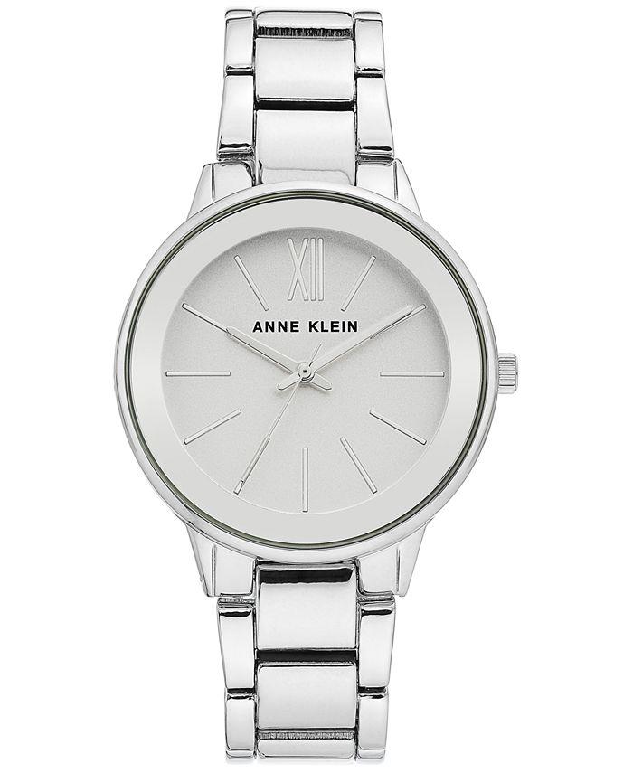 Anne Klein - Women's Silver-Tone Bracelet Watch 37mm