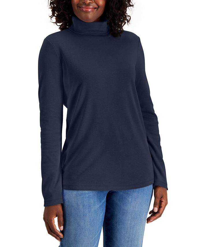 Karen Scott - Cotton Turtleneck Sweater