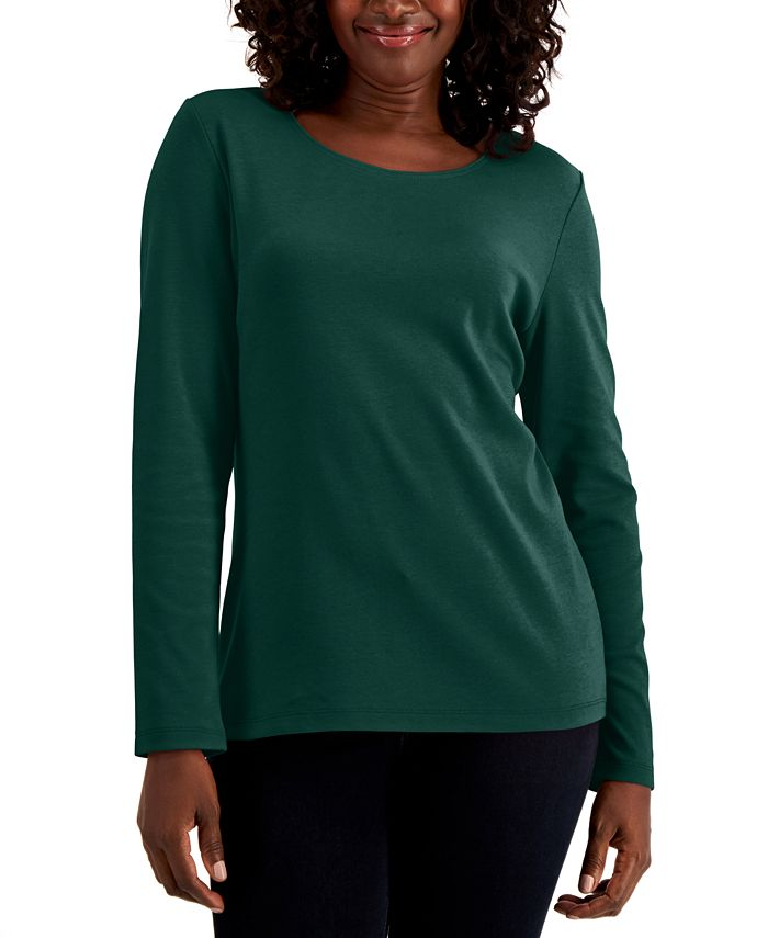 Karen Scott - Cotton Long-Sleeve T-Shirt