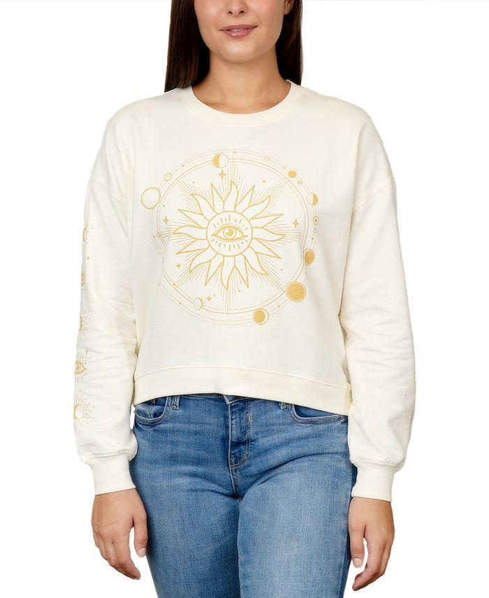 Rebellious One - Juniors' Celestial Graphic Sweatshirt