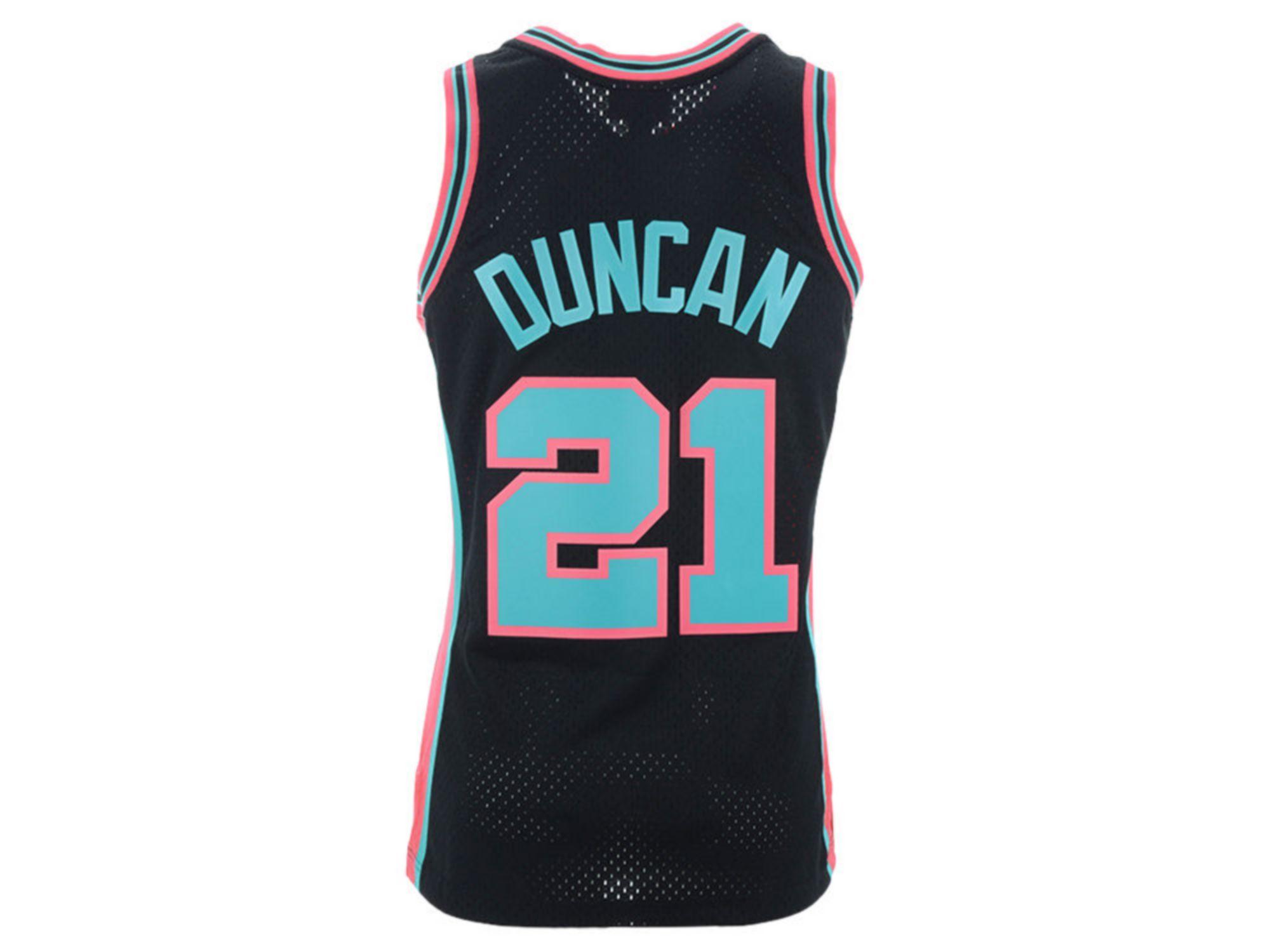 Mitchell & Ness Men's San Antonio Spurs Reload Collection Swingman Jersey - Tim Duncan & Reviews - Sports Fan Shop By Lids - Men - Macy's