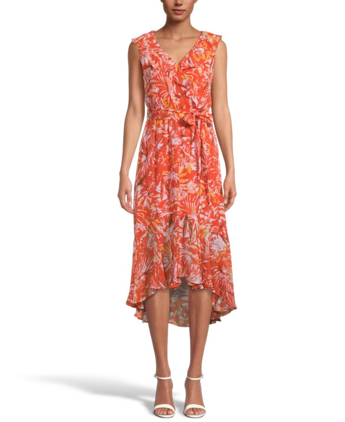 INC International Concepts INC Printed Ruffled Midi Dress, Created for Macy's & Reviews - Dresses - Women - Macy's