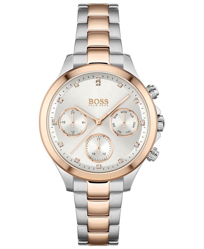 BOSS - Women's Hera Two-Tone Stainless Steel Bracelet Watch 38mm