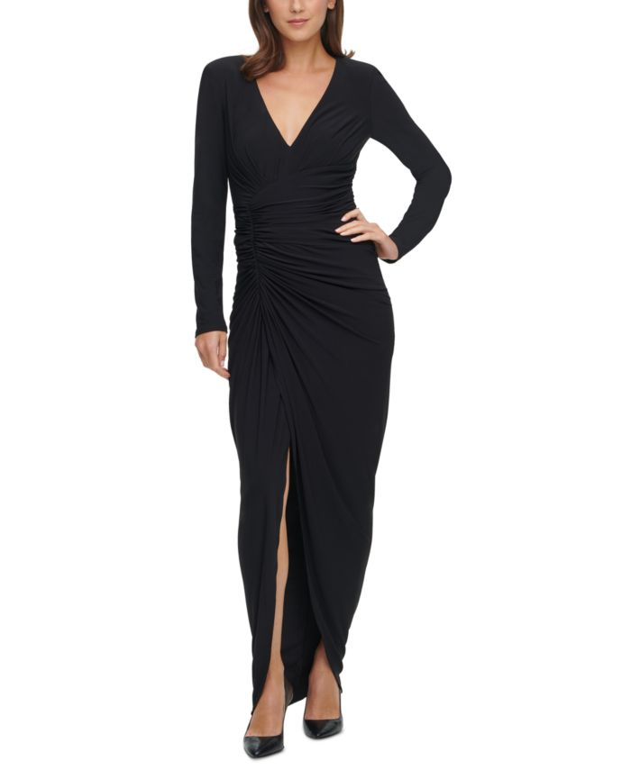 Vince Camuto Ruched Gown & Reviews - Dresses - Women - Macy's