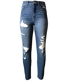 Tinseltown Juniors' Ripped Mom Jeans