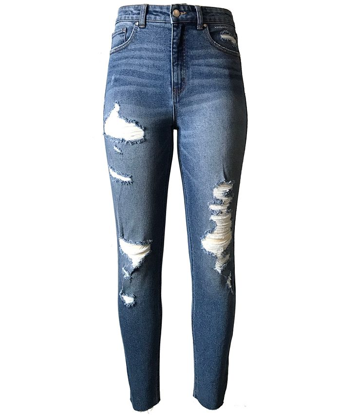 Tinseltown - Juniors' Ripped Skinny Jeans