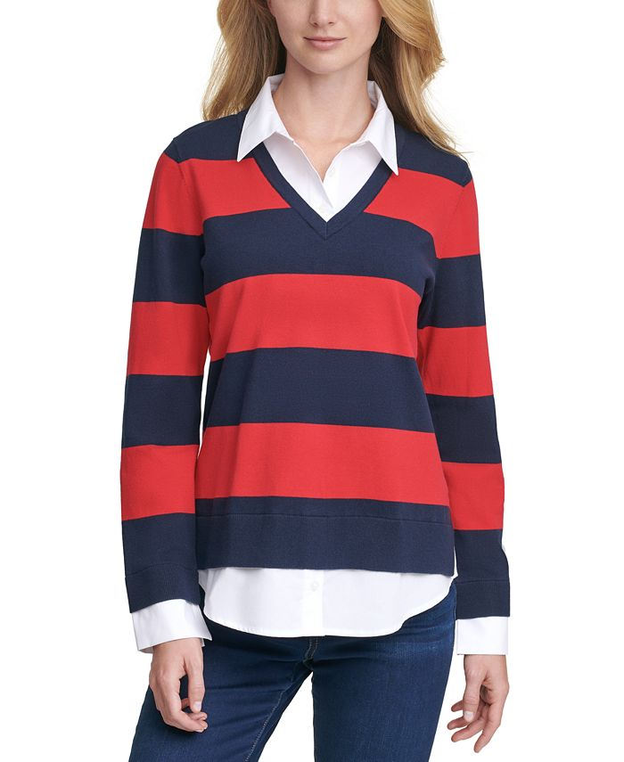 Tommy Hilfiger - Striped Rugby Sweater