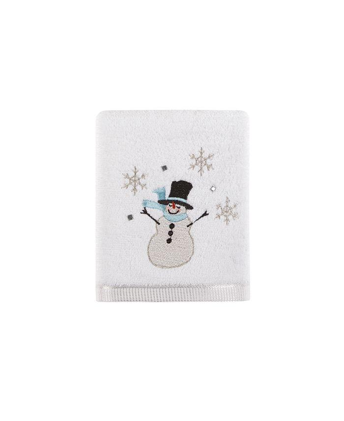 "Martha Stewart Collection - Silver Snowman 16"" x 28"" Hand Towel"