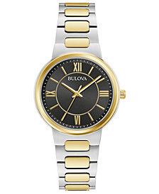 Bulova Women's Two-Tone Stainless Steel Bracelet Watch 32mm