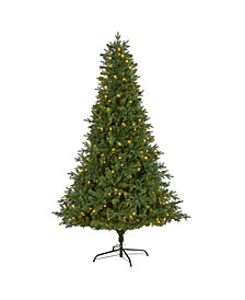 Nearly Natural Vermont Fir Artificial Christmas Tree with 350 Clear LED Lights