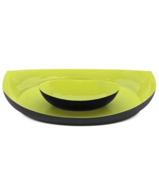 CLOSEOUT! Dansk Serveware, Apple Green Chip and Dip