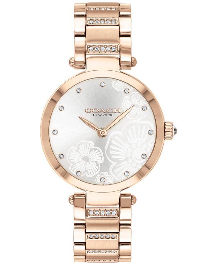 COACH - Women's Park Carnation Rose Gold-Tone Bracelet Watch 30mm