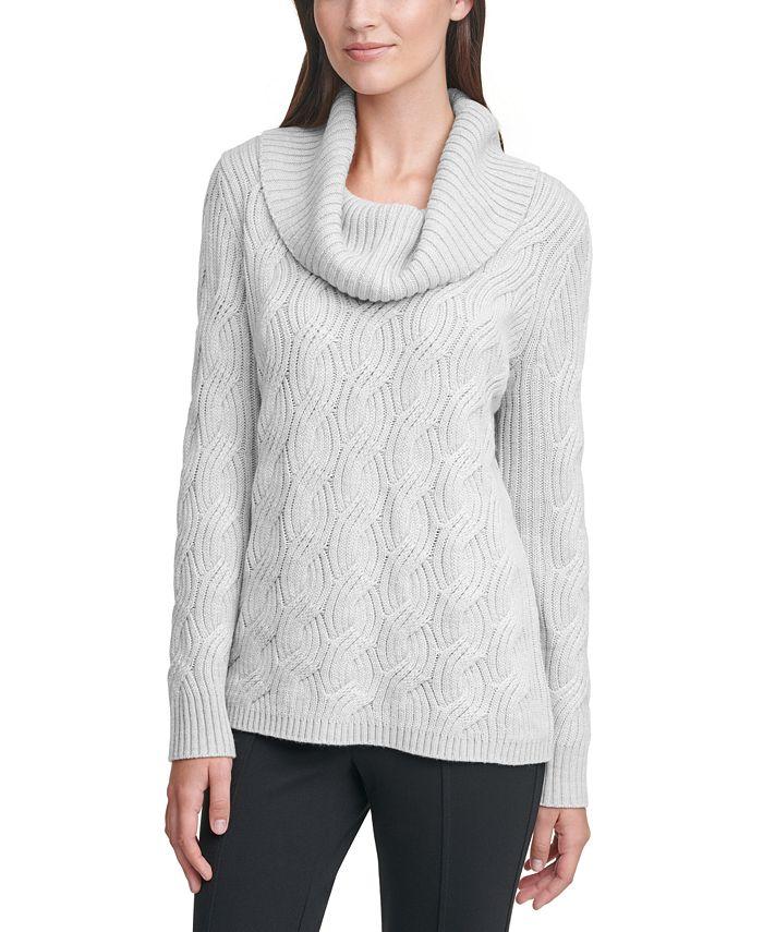 Calvin Klein - Chain-Stitched Cowlneck Sweater