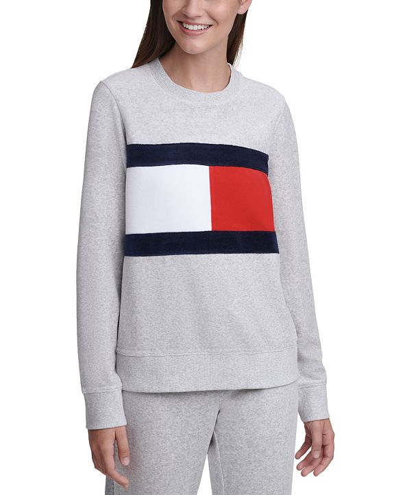 Tommy Hilfiger Colorblocked Velour Sweatshirt