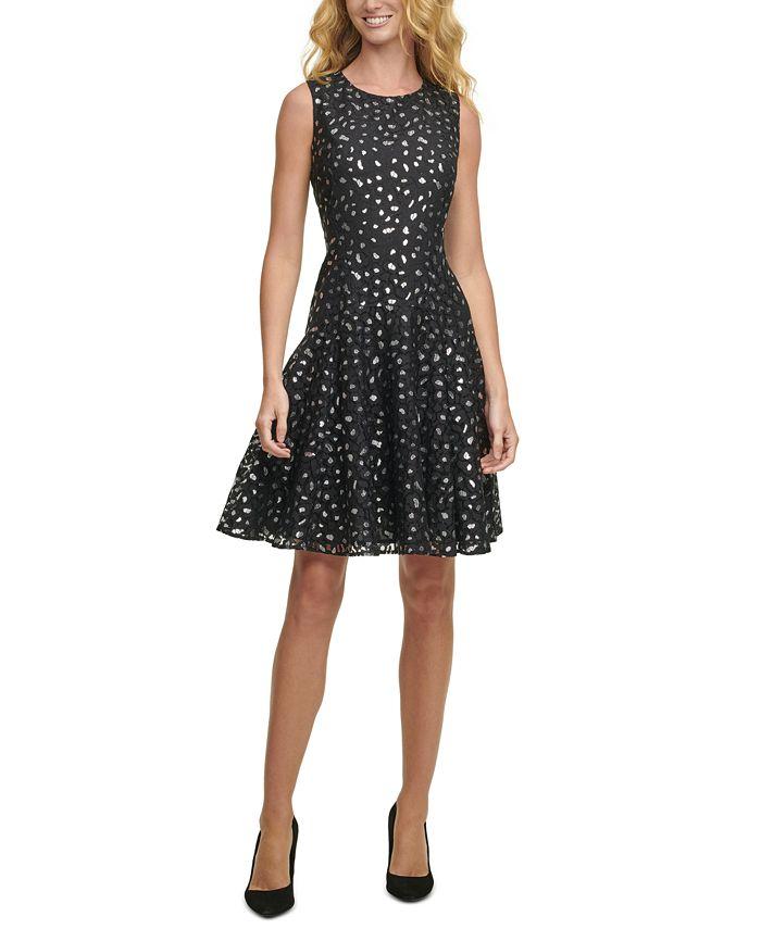 Tommy Hilfiger - Metallic Leopard Lace Dress