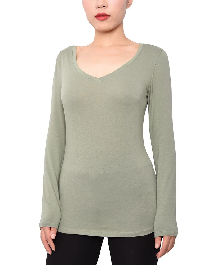 Aveto - Juniors' V-Neck Long-Sleeved Top
