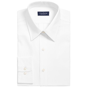 Club Room Men's Classic/Regular-Fit Solid Dress Shirt