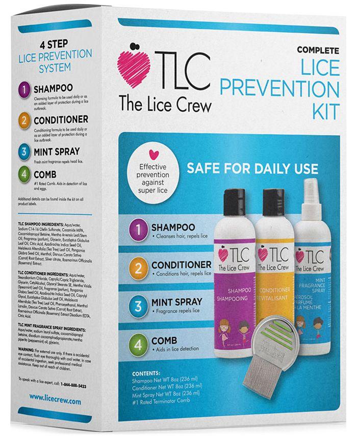 The Lice Crew - 4-Pc. Head Lice Prevention Set