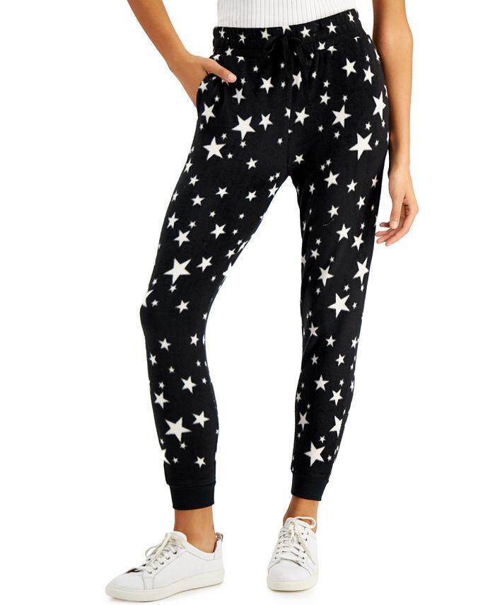 Planet Gold - Juniors' Camo-Print Fleece Jogger Pants