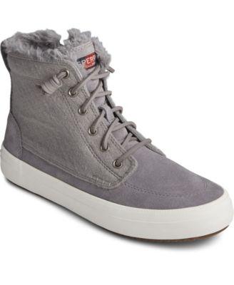 Crest Lug High Top Suede Sneaker