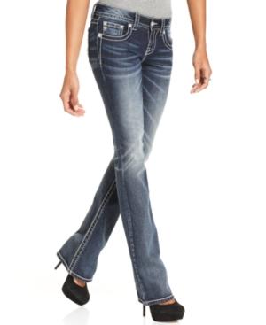 Miss Me Jeans, Bootcut-Leg Rhinestone, Medium Wash