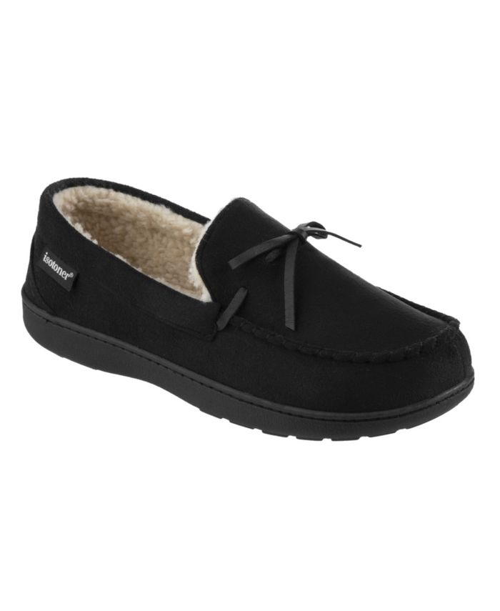 Isotoner Signature Men's Memory Foam Microsuede Nigel Moccasin Slippers & Reviews - All Men's Shoes - Men - Macy's