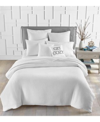 Cotton Matelassé Ribbed 2-Pc. Twin Duvet Cover Set, Created for Macy's