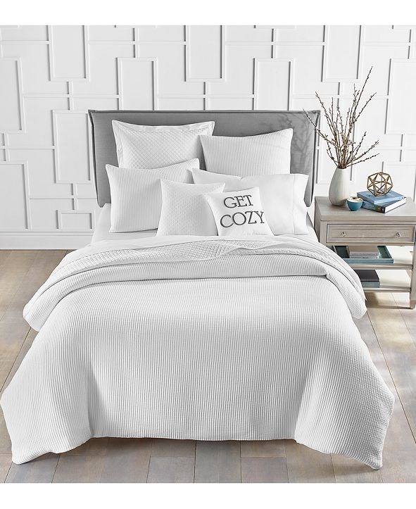 Charter Club Matelassé Ribbed Bedding Collection, Created for Macy's