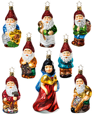 Snow White Christmas Ornament Set