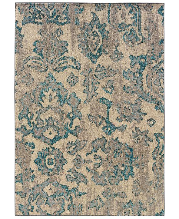 Oriental Weavers Rugs, Kaleidoscope 8023Y Modern Damask