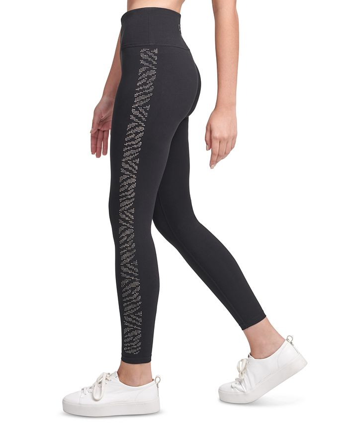 Calvin Klein - Rhinestone-Embellished High-Waist Leggings