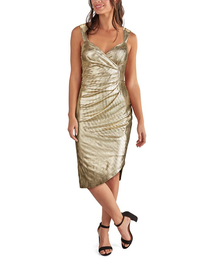 GUESS - Metallic Side-Ruched Dress