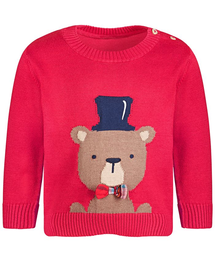 First Impressions - Baby Boys Bear Sweater