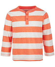 First Impressions Baby Boys Rugby-Stripe Henley, Created for Macy's