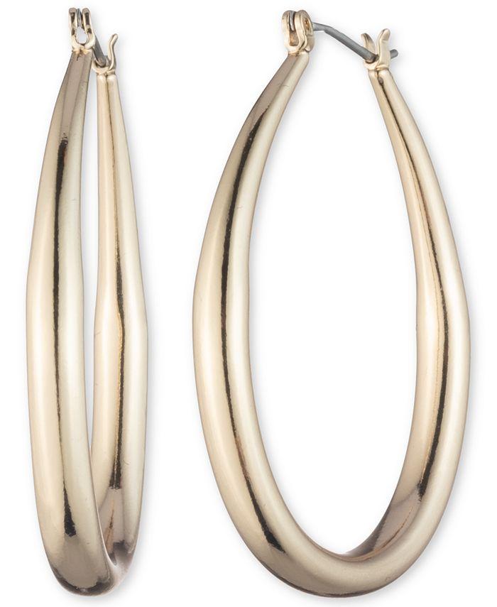 """Anne Klein - Gold-Tone Medium Hoop Earrings, 1.7"""""""