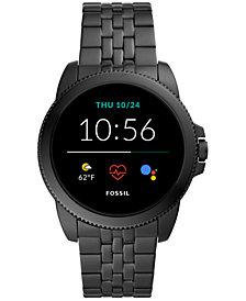 Fossil Men's Gen 5E Black Stainless Steel Bracelet Touchscreen Smart Watch 44mm