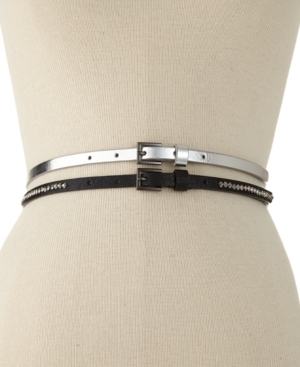 Style & co. Belt, Plus Size 2 for 1 Rhinestone
