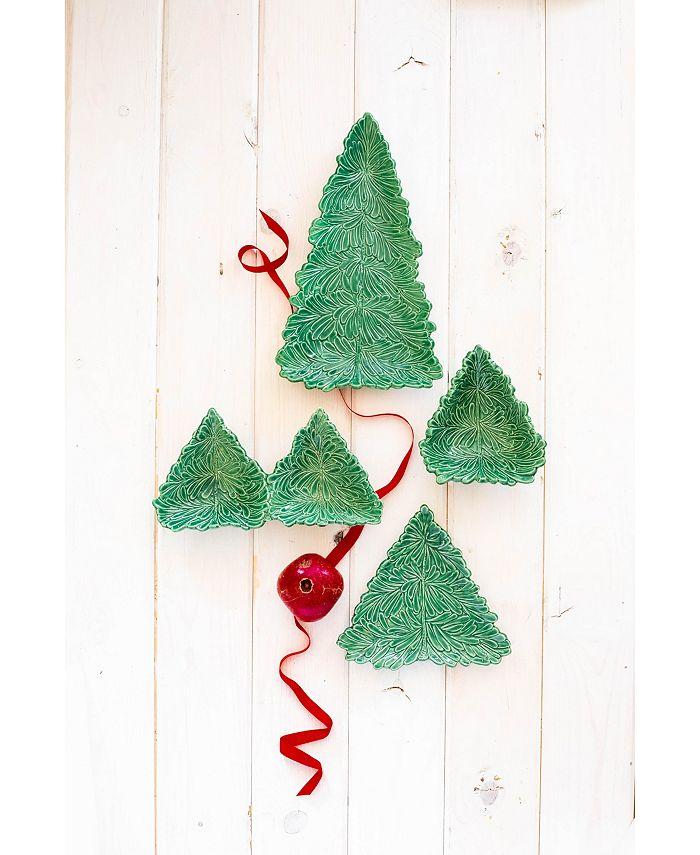Vietri Lastra Holiday Figural Tree Small Plate Reviews Dinnerware Dining Macy S