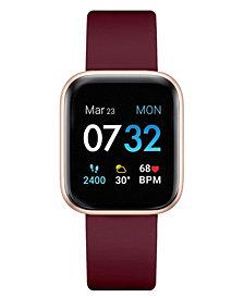 Women's Air 3 Merlot Silicone Strap Touchscreen Smart Watch 40mm