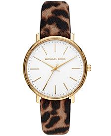 Michael Kors Women's Pyper Cheetah Calf Hair Watch 38mm