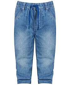 First Impressions Baby Boys Denim Cuff Jeans, Created for Macy's
